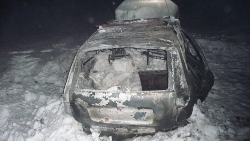 Под Оренбургом вкювет перевернулась «Лада калина», умер  шофёр