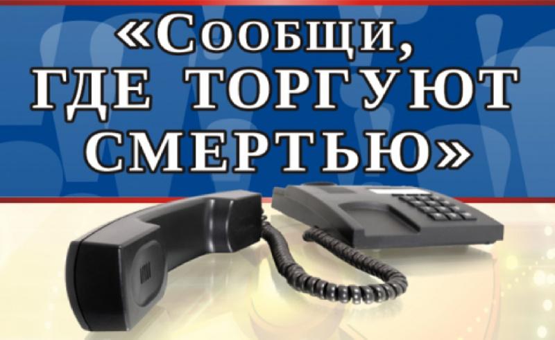 ВКурске подытожили 2 этапа акции «Сообщи, где торгуют смертью»