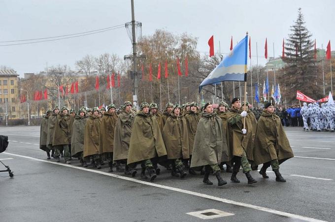 Оренбургские кадеты приняли участие вПараде Памяти вСамаре