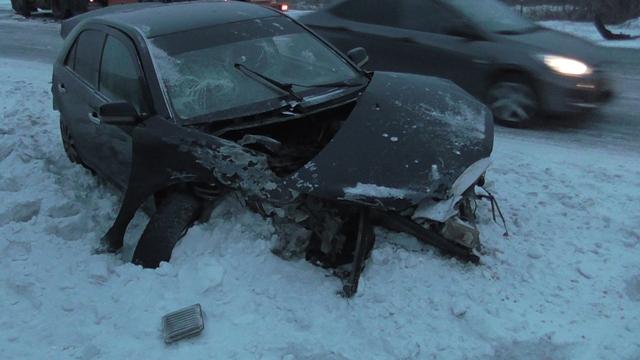 Новотроицкий шофёр легковушки врезался в грузовой автомобиль и удалился сместа ДТП